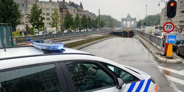 Pagaille à Bruxelles durant l'heure de pointe matinale après la fermeture (momentanée) des tunnels Loi et Cinquantenaire...