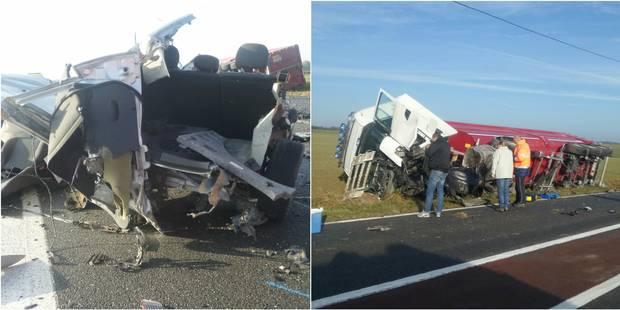 Une mère et son bébé perdent la vie après une collision avec un camion à Solre-Saint-Géry - La Libre