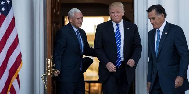 Donald Trump rencontre un ancien adversaire, Mitt Romney - La Libre