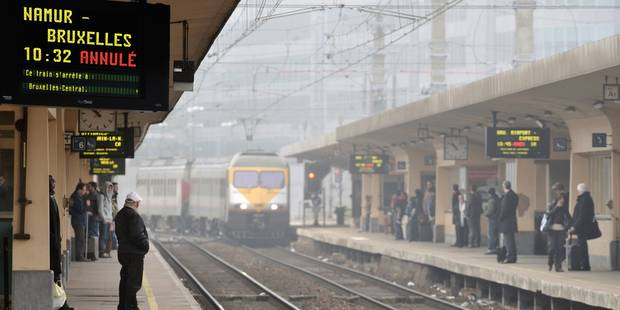 Des retards attendus jusqu'en soirée sur le rail après un incident à Bruxelles - La Libre