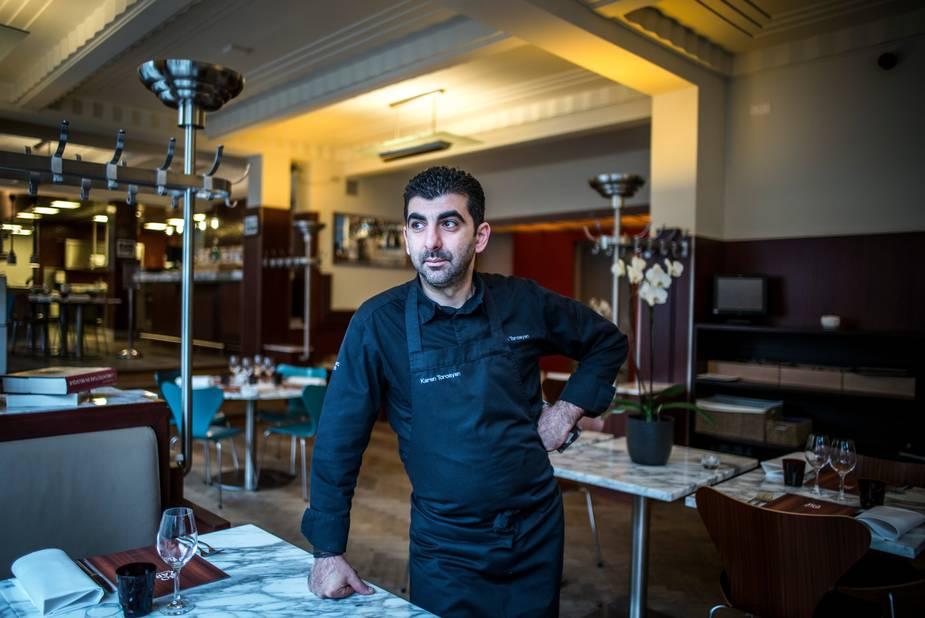 """C'est fin 2010 que David Martin, chef étoilé de """"La Paix"""", proposait au jeune chef de prendre les commandes de sa """"Bozar Brasserie"""" au Palais des Beaux-Arts de Bruxelles."""
