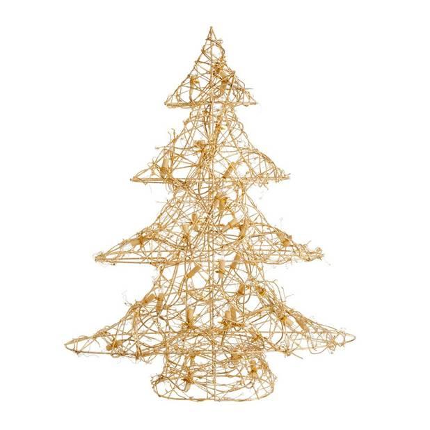 Sapin lumineux en métal doré, Maisons du monde, 42,99 euros
