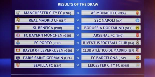 1/8e de finale de la C1: PSG-Barcelone et Bayern-Arsenal au programme - La Libre