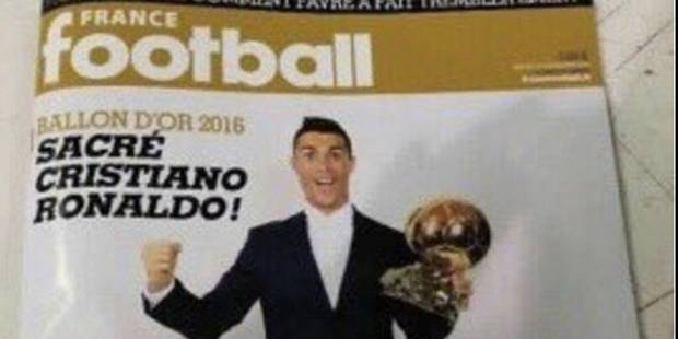 La Une de France Football sacrant Cristiano Ronaldo aurait fuité - La Libre