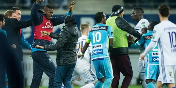 Une carte rouge met le feu aux poudres, La Gantoise - Anderlecht vire à la bagarre (PHOTOS + VIDEOS) - La Libre