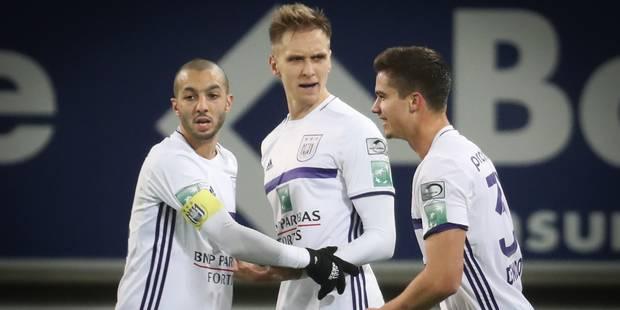 Anderlecht remporte un choc tendu face à Gand (2-3) - La Libre