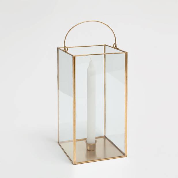 Lanterne verre et métal doré,   Zara Home, 35,99 €