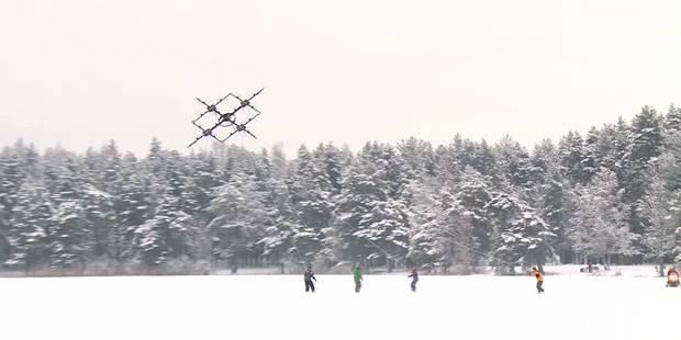 En Lettonie, les drones peuvent sauver des vies ou... tracter des snowboaders (VIDEO) - La Libre