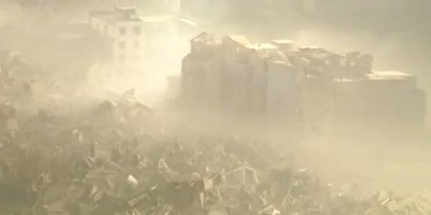 19 immeubles partent en fumée en quelques secondes en Chine (VIDEO) - La Libre