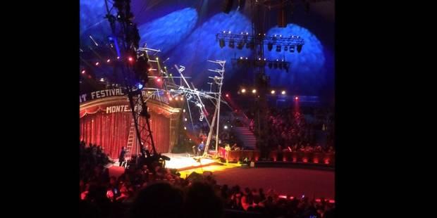 Impressionnante chute de funambules au festival de Monte-Carlo (VIDEO) - La Libre