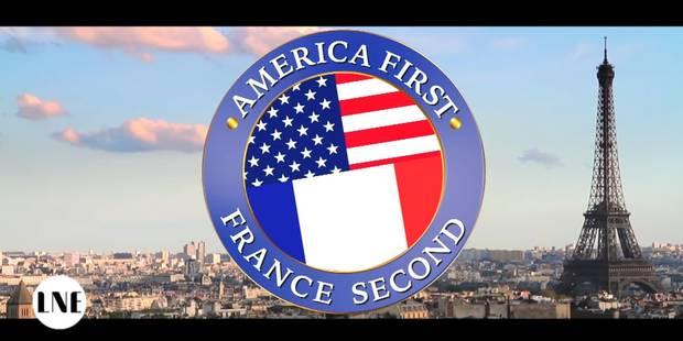 """Après les Pays-Bas, la Belgique et la Suisse, la France aussi parodie le """"America First"""" de Donald Trump (VIDEO) - La Li..."""