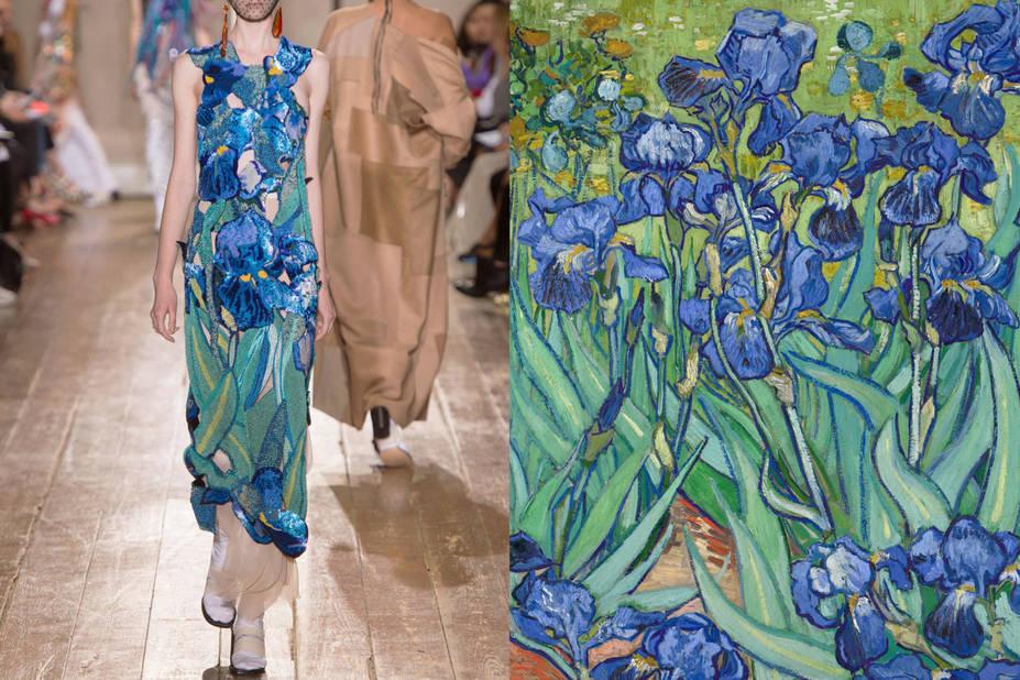 Maison Margiela Haute Couture Automne 2014 -  Iris, Vincent van Gogh, 1889