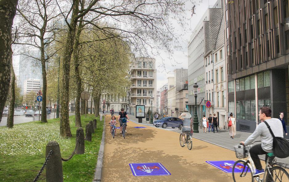 Avenue des Arts / Boulevard du Régent entre Madou et Arts-Loi