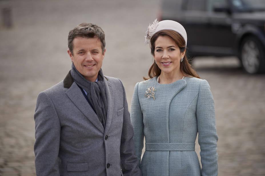 Le couple héritier du royaume, Frederik et Mary
