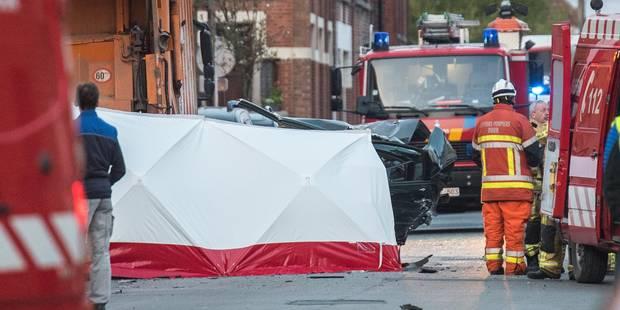 Cyril L. et Donovan D. décèdent dans un accident impliquant un camion poubelle à Dour - La Libre