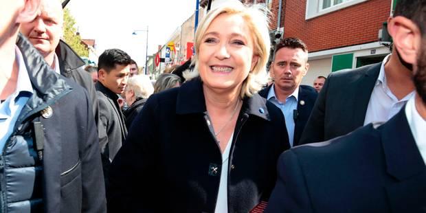 """Marine Le Pen fustige """"un vieux front républicain pourri"""" autour de Macron - La Libre"""