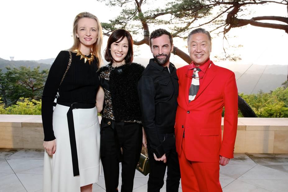 Delphine Arnault, Mirai Yamamoto, Nicolas Ghesquiere, Kansai Yamamoto