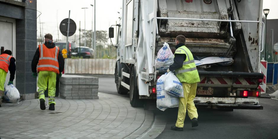 Collecte des sacs ixelles : Le service propret? est entr? en gr?ve ? ixelles la libre