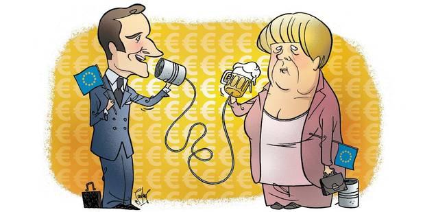 Dans le couple franco-allemand, Macron peut mener la danse (OPINION) - La Libre