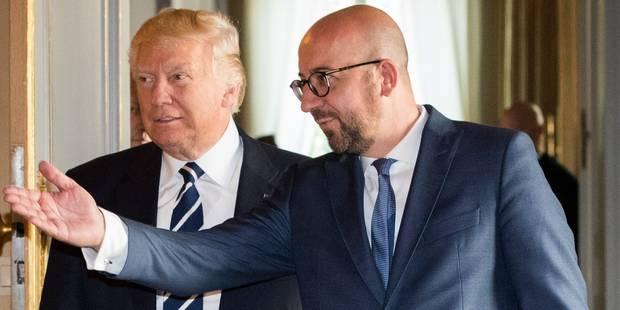 """Charles Michel sur son entretien avec Trump : """"Nous avons parlé sans tabou"""" - La Libre"""