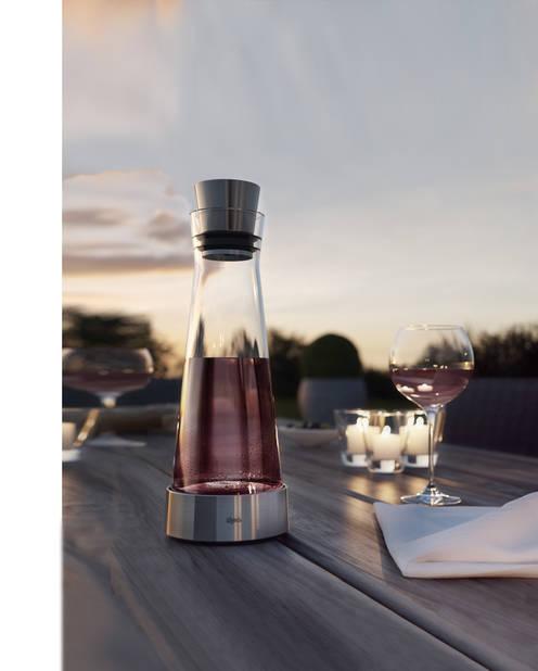 Carafe frigorifique Emsa, 27,99€ pour le modèle plastique et 34,99 € avec socle inox