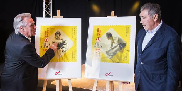 bpost rend hommage aux vainqueurs belges de la Grande Boucle - La Libre