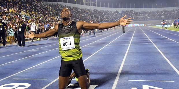 Usain Bolt fait ses adieux à son public sur une victoire (VIDEO) - La Libre
