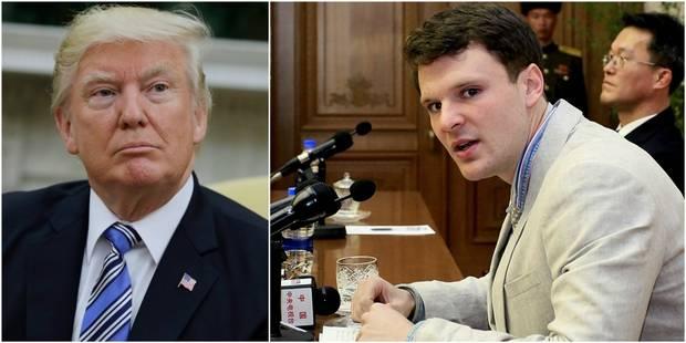 """Décès de l'étudiant Otto Warmbier: Trump dénonce le """"régime brutal"""" de la Corée du Nord - La Libre"""