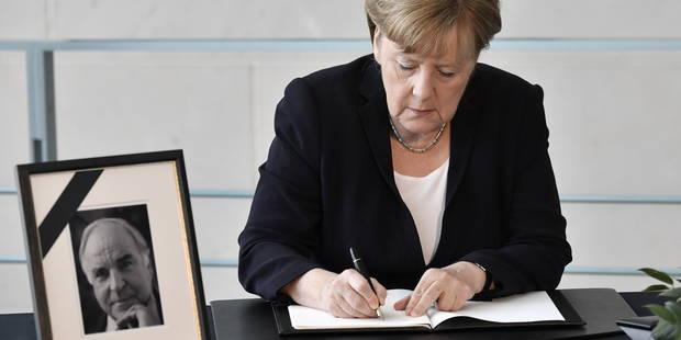 Tensions autour des obsèques d'Helmut Kohl: sa veuve s'oppose à un hommage de Merkel - La Libre