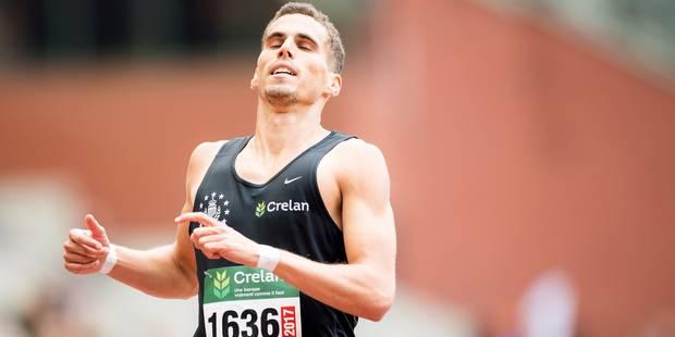 Kevin Borlée est de nouveau champion de Belgique du 400 m mais pas encore à Londres - La Libre