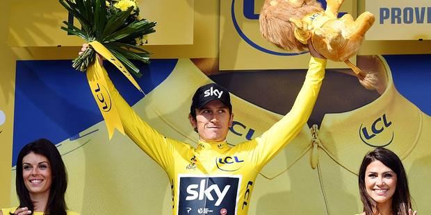 """Geraint Thomas: """"J'ai déjà utilisé cette tunique au Giro"""" - La Libre"""