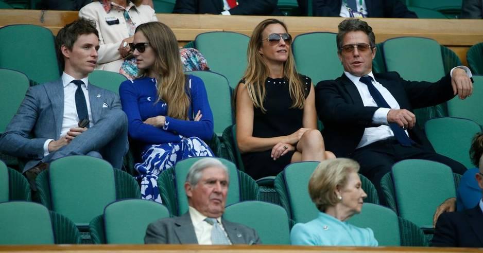 Eddie Redmayne et sa femme Hannah / Hugh Grant et sa compagne Anna Eberstein