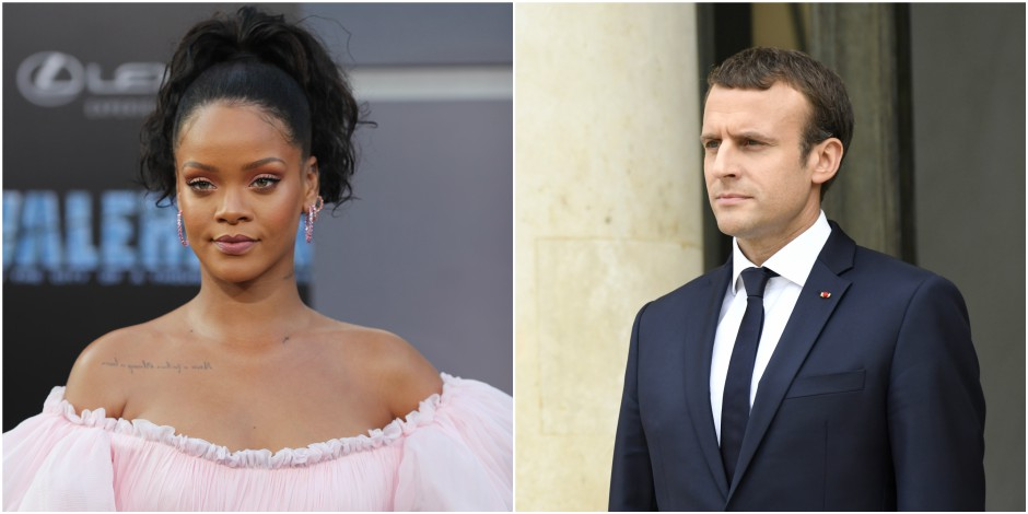 Emmanuel Macron recevra Rihanna mercredi à l'Elysée, après Bono lundi