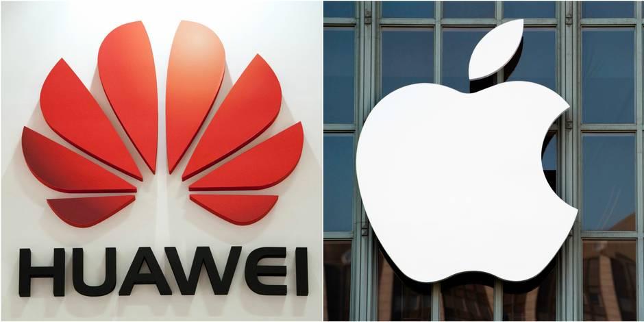 Huawei dans le rétroviseur d'Apple, mais