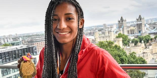 Nafissatou Thiam est de retour en Belgique après son triomphe à Londres - La Libre