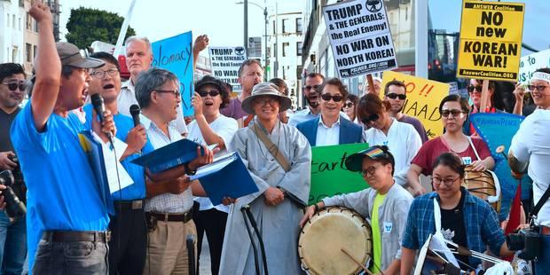 Tensions entre la Corée du Nord et les Etats-Unis : manifestations pro et anti-intervention à Los Angeles - La Libre