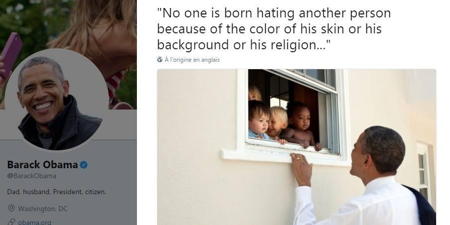 Le message anti-racisme de Barack Obama devient viral — Charlottesville