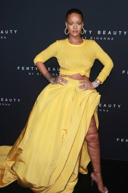 Rihanna à la présentation de sa marque Fenty