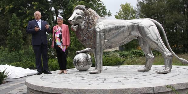 La ville québécoise de Waterloo inaugure son Lion - La Libre