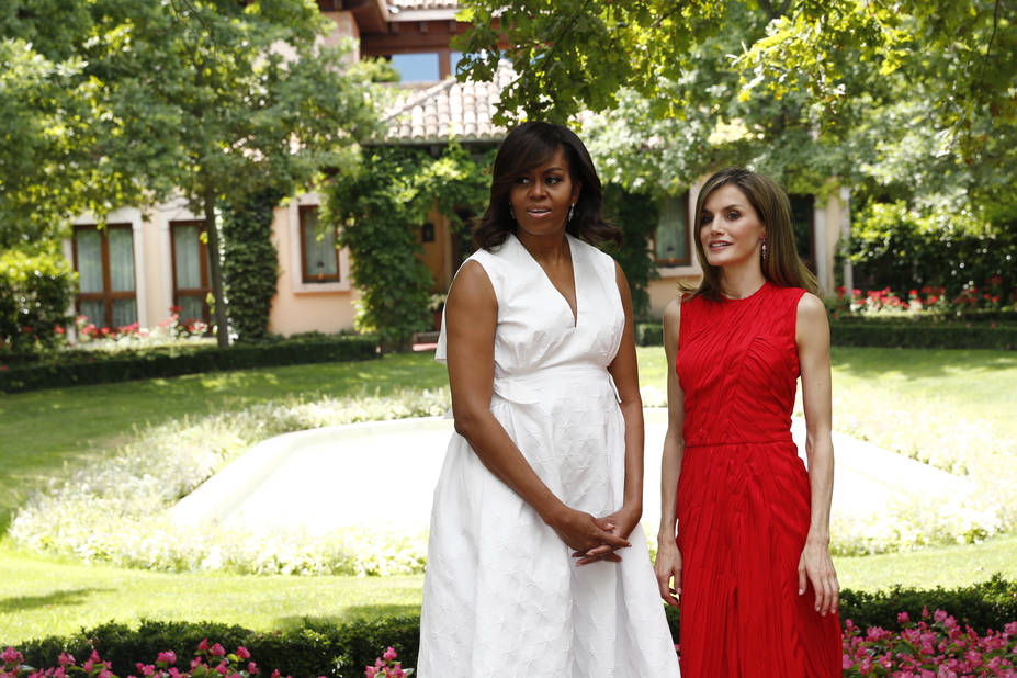 Avec Michelle Obama en juin 2016