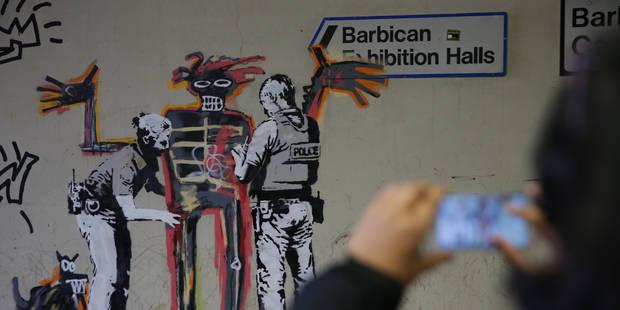 Banksy frappe encore à Londres: Voici ses deux nouvelles fresques (PHOTOS) - La Libre