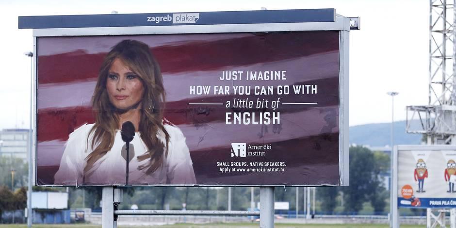 Melania Trump fait arrêter une campagne publicitaire — Croatie