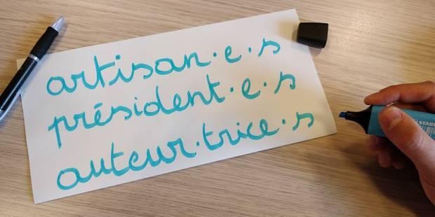 L'écriture inclusive en faveur de plus d'égalité? - La Libre