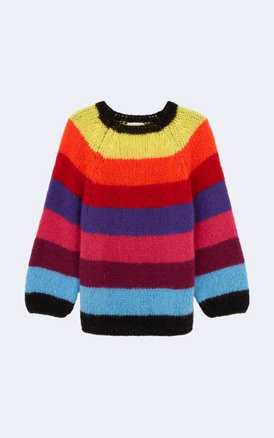 Pull en laine multicolore, ba&sh, 250€