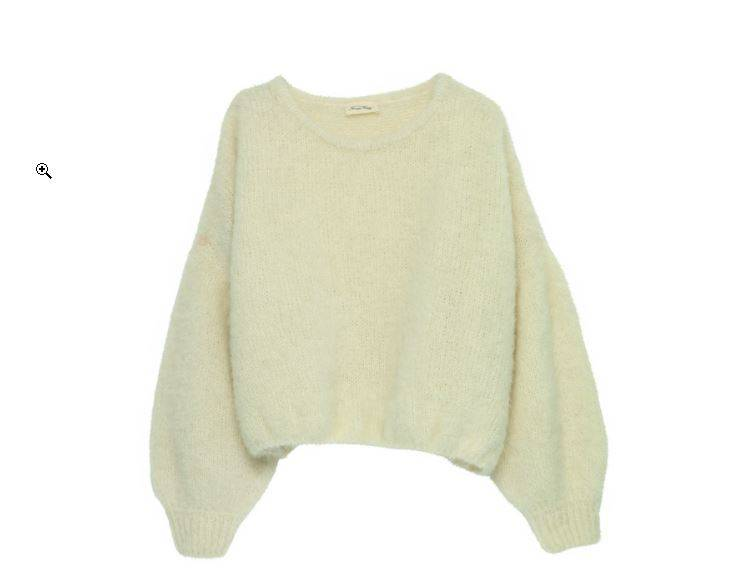 Pull en laine nacre manches oversized, American Vintage, 175€