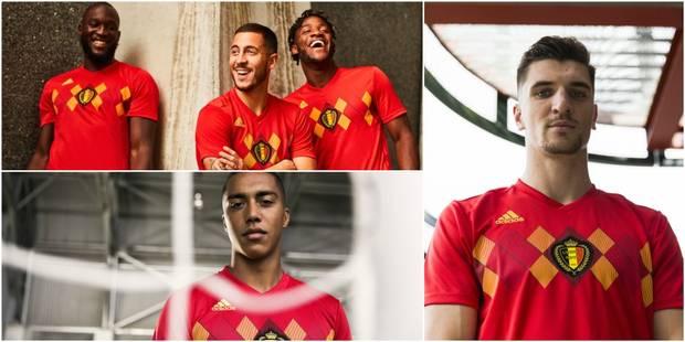 """Le maillot """"Home"""" des Diables rouges pour la Coupe du Monde officialisé - La Libre"""