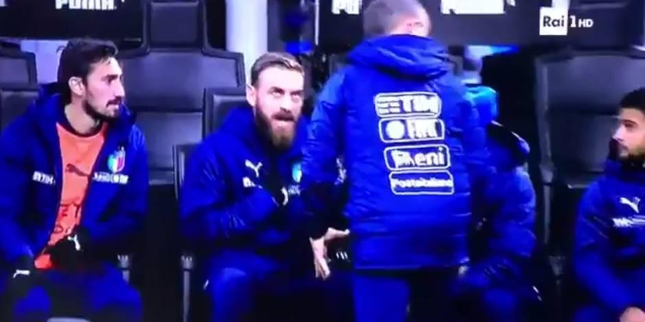 De Rossi a refusé d'aller s'échauffer (avec une bonne raison) — Italie-Suède