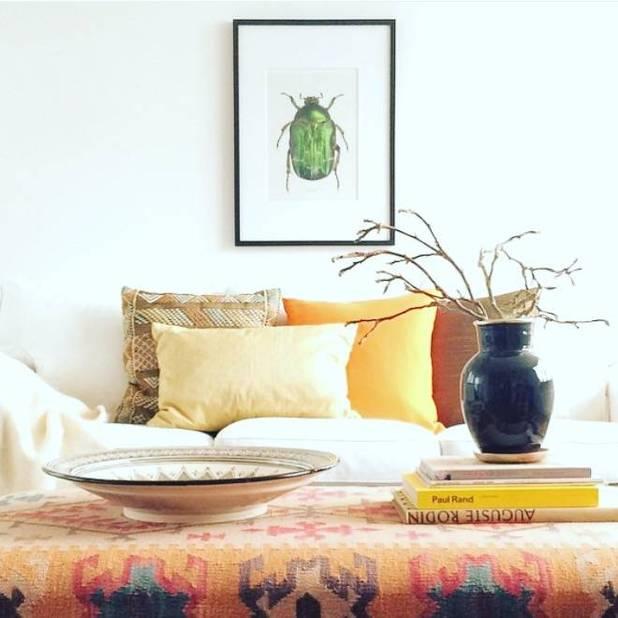 Photographie de coléoptère, Liljebergs, 30,60€ chez  www.nordicliving.be