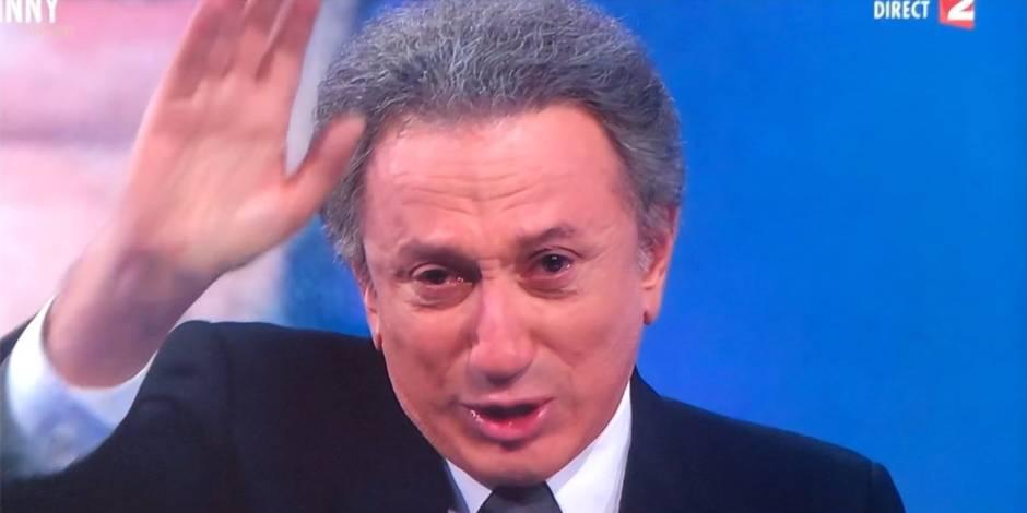 Michel Drucker en pleurs à la fin de l'émission spéciale de France 2 consacrée à Johnny Hallyday (VIDEO)