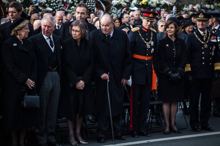 Les monarchies européennes ont rendu un dernier hommage au roi mort à 96 ans.